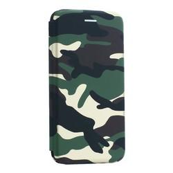 """Чехол-книжка кожаный Innovation Case для iPhone XS Max (6.5"""") Камуфляж"""