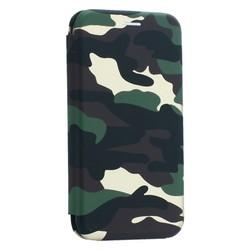 """Чехол-книжка кожаный Innovation Case для iPhone XR (6.1"""") Камуфляж"""