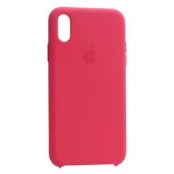 """Чехол-накладка силиконовый Silicone Case для iPhone XR (6.1"""") Hibiscus Красный каркаде"""