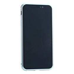 """Чехол закаленное стекло с магнитной рамкой Baseus Magnetite Hardware (WIAPIPH65-CS0S) для iPhone XS Max (6.5"""") Серебристый"""
