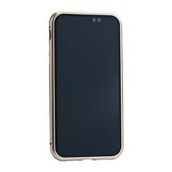 "Чехол закаленное стекло с магнитной рамкой Baseus Magnetite Hardware (WIAPIPH61-CS0V) для iPhone XR (6.1"") Розовое золото"